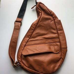 Ameribag Healthy Bag Leather cognac sling purse